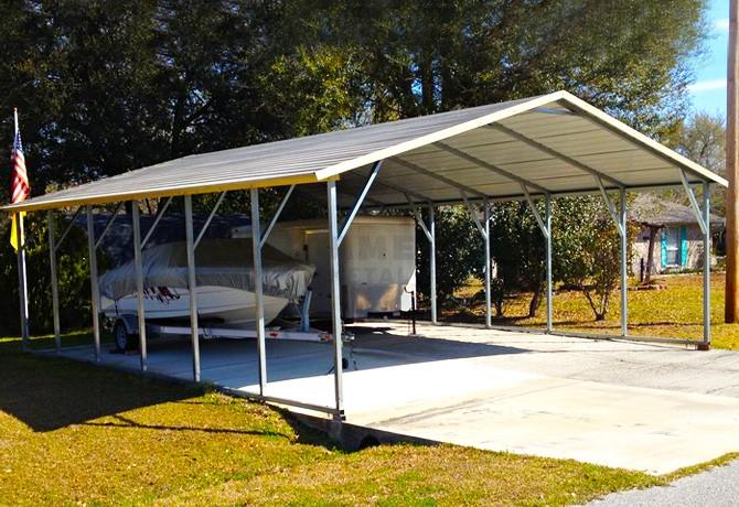 A-Frame Roof Carports