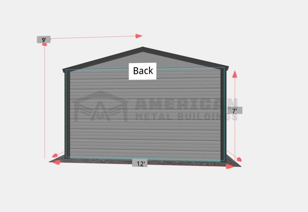 12x20' Steel Garage