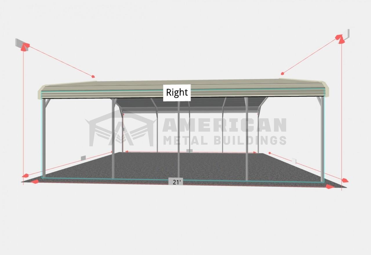 18x20' Regular Steel Carport