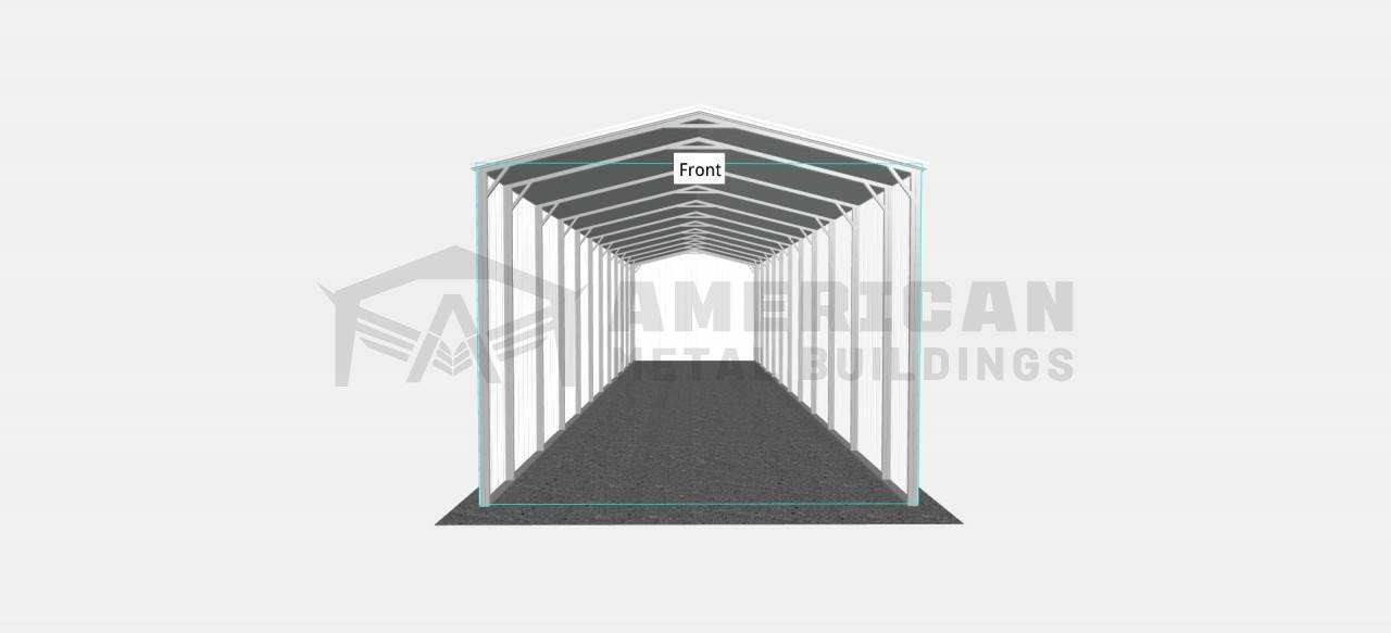 18x55 Vertical RV Carport