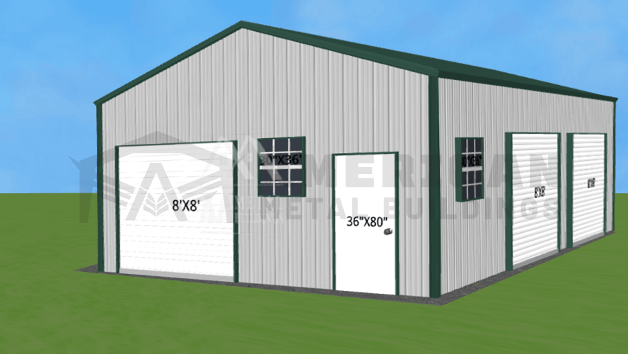 22x30 Side Entry Metal Building