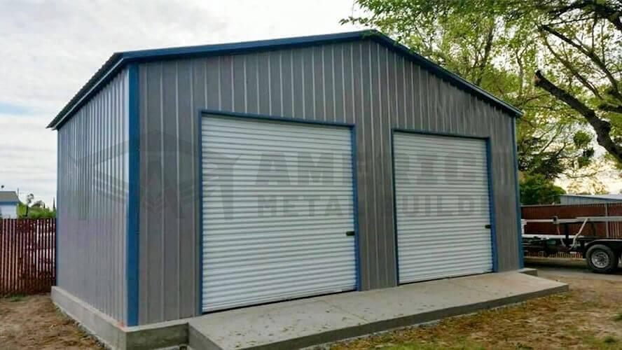 24x25 Two Car Garage Building