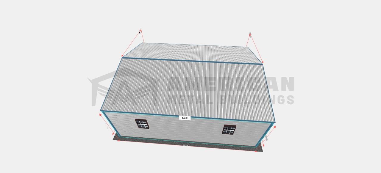 24x30 Enclosed Metal Garage