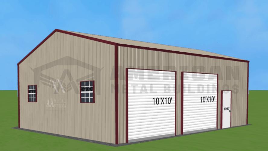 24x35 Side Entry Garage