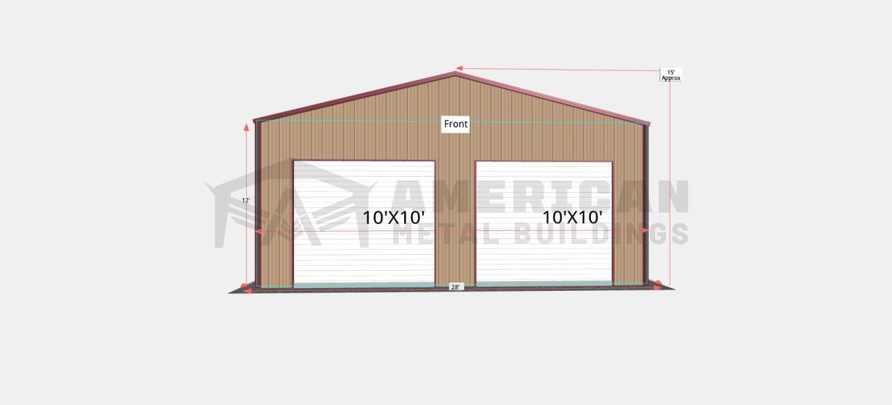 28x40 Steel Garage Building